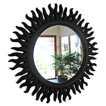Spiegelwand Sonne schwarz 50cm