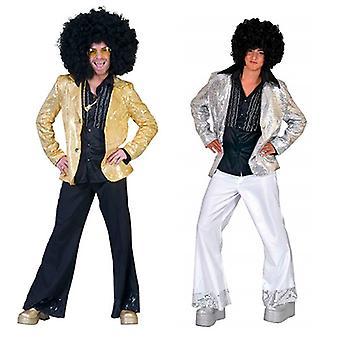 Disco Fever 80s Jacketmen's Costume Hit Star Showman Circus Costume Homme