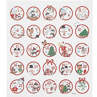 Cute Kids Character Advent Crafts Number Stickers