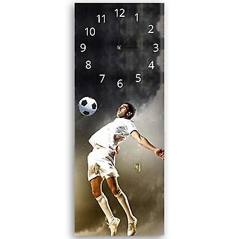 Decorative clock with hanger, Football