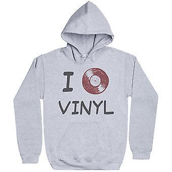 I Love Vinyl-Miesten huppari