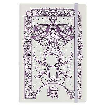 Grindstore Cryptic Moth A5 Hard Cover Notebook