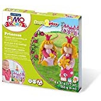 Fimo 7-delige kinderen vormen en spelen Princess Modelling set, multi-colour