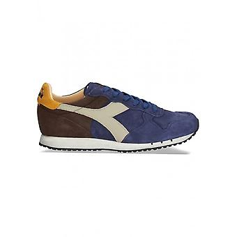 Diadora Heritage - Shoes - Sneakers - TRIDENT_S_SW_C7163_BLU-MARRONE - Men - navy,saddlebrown - 6.5