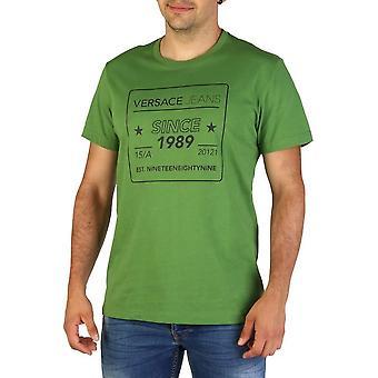 Versace Jeans - Bekleidung - T-Shirts - B3GTB76E_36610_130 - Herren - forestgreen,black - XXL
