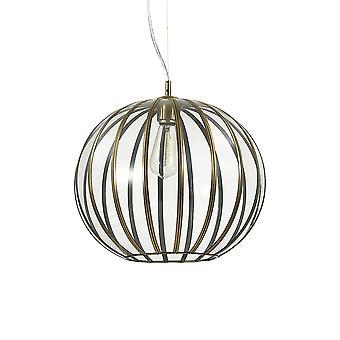 Ideal Lux Rondo 1 Light Spherical Pendant Light Burnished Finish IDL168968