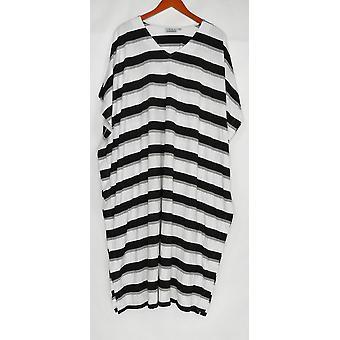 Joan Rivers Classics Collection Petite Dress 1X Length Strip Knit White A304760
