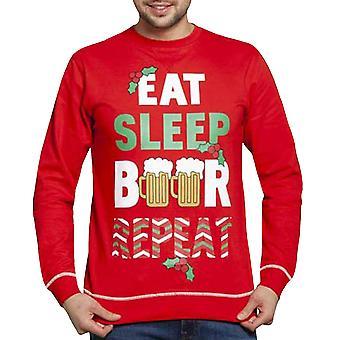 Duke D555 Mens Novelty Fun Christmas Xmas Sweatshirt Sweater Jumper Top - Red