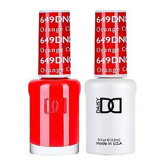 Dnd Duo Gel & Nail Polish Set - Orange Creamsicle 649 - 2x15ml