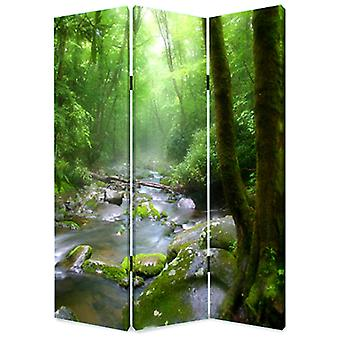 """1"""" x 48"""" x 72"""" Multi Color Wood Canvas Meadows And Streams  Screen"""