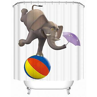 Foolish Elephant Character Shower Curtain