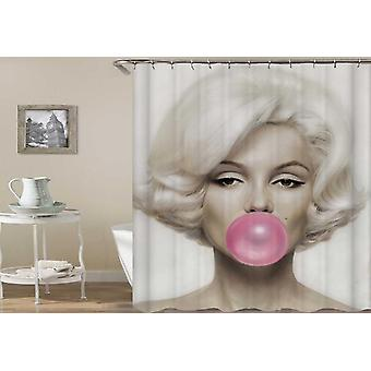 Marilyn Monroe Bubblegum Shower Curtain