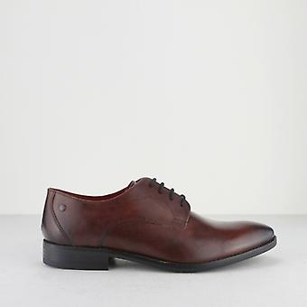 Base London Ivy menns polert Leather Derby Lace ups Rosewood