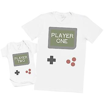 Gamer Player One & Player Two - Mens T Shirt & Baby Bodysuit