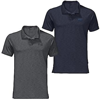 Jack Wolfskin Mens Travel Quick Drying Odour Reducing Polo Shirt