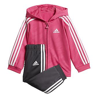 Adidas Infants Shiny Hooded Jogger