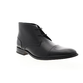 Bostonian Nantasket Mid  Mens Black Leather Lace Up Chukkas Boots