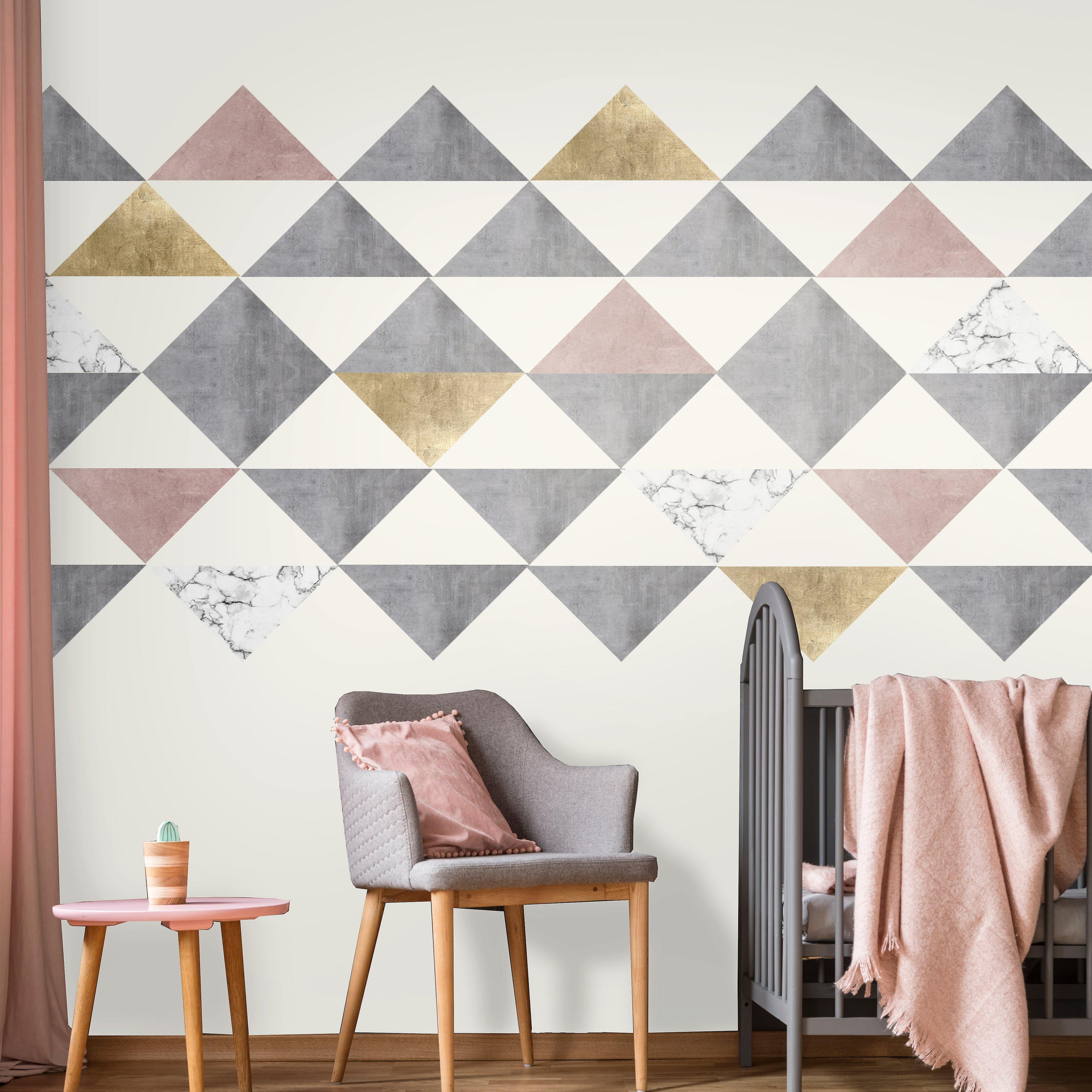 Lindas large triangle wall decals
