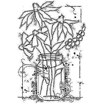 Houtwerk Clear Stamp - Bloemen in een pot Duidelijk