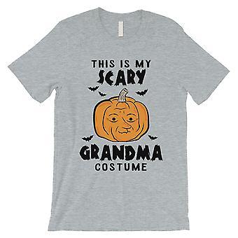 Dette er min Scary bestemor drakt Pumpkin Halloween menns Grey T-skjorte