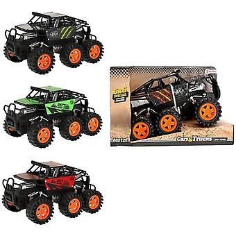 Monster Truck 6x6 With 6 Wheels Friction Car 20cm