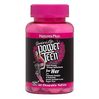 Nature's Plus Power Teen For Her Chewable Tabs 60 (30004)