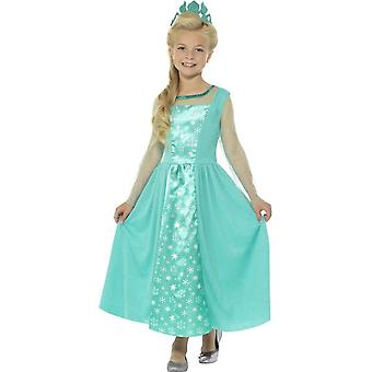 Ice Princess Costume, Blue, with Dress & Crown