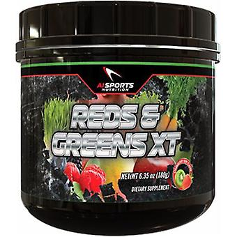 AI Sports Nutrition Reds & Greens Xt Strawberry Kiwi 180 gr