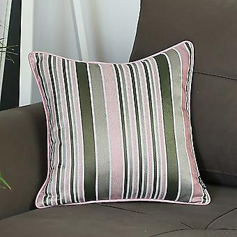 "17""x 17"" Jacquard Stripe Mood Decorative Throw Pillow Cover"