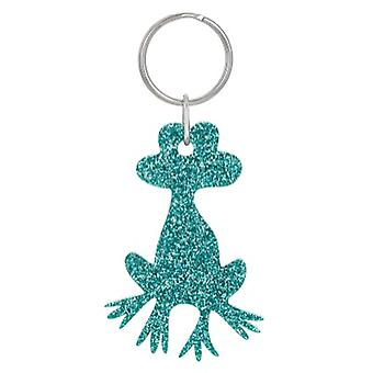 Green Frog Glitter Acrylic Keyring