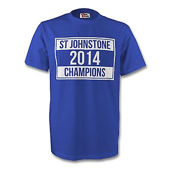 St Johnstone 2014 Champions camiseta (azul)