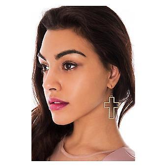 Cross Out Earrings In Bronze