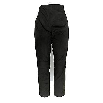 Kelly di Clinton Kelly Women's Petite Pants Ponte W/ Faux Suede Gray A283412