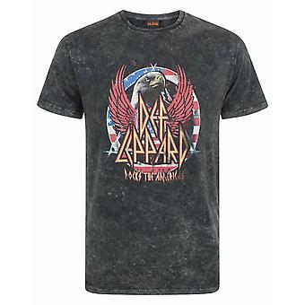 Def Leppard Men's Acid Wash T-Shirt