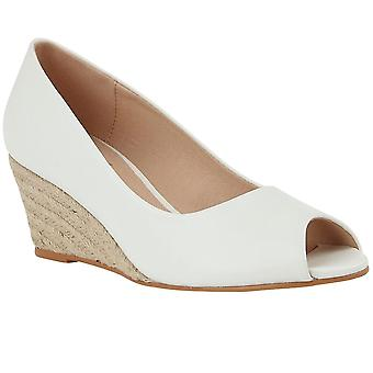 Lotus Bianca Womens Peep Toe Wedge Shoes