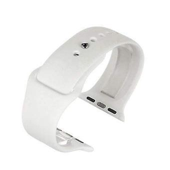 Watch strap made by w&cp to fit apple iwatch watch strap white silicone rubber 38mm and 42mm