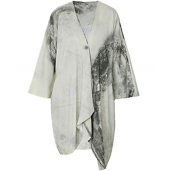 Crea Concept Linen Blend Draped Jacket