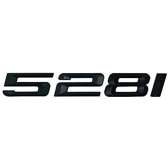 Matt Black BMW 528i Car Badge Emblem Model Numbers Letters For 5 Series E93 E60 E61 F10 F11 F07 F18 G30 G31 G38