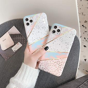 iPhone 11 shells with geometric shapes in pastel colors