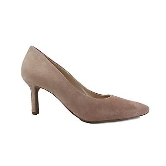 Paul Green 3757-11 Rose Pink Suede Leather Womens Stiletto Heel Court Shoes