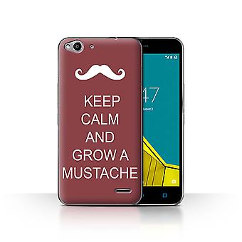 STUFF4 Case/Cover for Vodafone Smart Ultra 6/Grow a Mustache/Maroon/Keep Calm