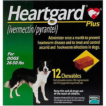 Heartgard Plus For Dogs 12-22kg (26-50lbs) - 12 Chewables