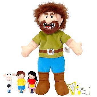 Tellatale Jack et le haricot magique main et jeu de marionnette de doigt