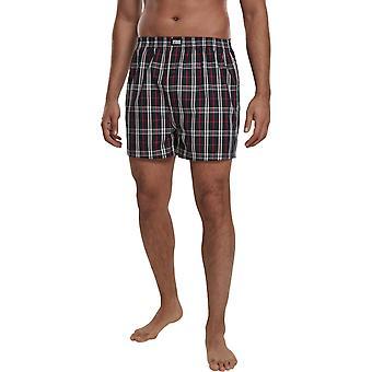 Urban Classics - Woven Plaid Boxer Shorts Pack of 2