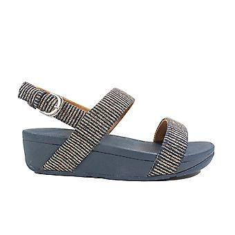 Fitflop Lottie Glitter Navy Womens Slingback Sandals