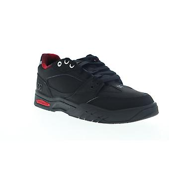 DC Maswell WNT  Mens Black Leather Low Top Skate Sneakers Shoes