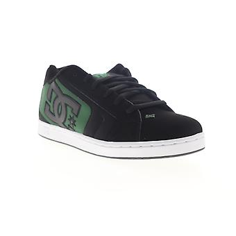 DC Net Mens Black Nubuck Leather Lace Up Athletic Skate Shoes