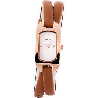 Opex OPW003 Watch - BLER Leather Bracelet Brown Bo tier Steel Dor pink Women