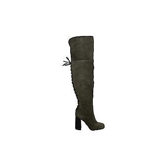 فينس كاموتو المرأة VC-TOLLA الجلود مغلقة الركبة أحذية الأزياء العالية