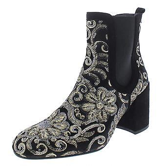 Stuart Weitzman Women's Mediate Embellished Metallic Ankle Booties, 7.5 M US